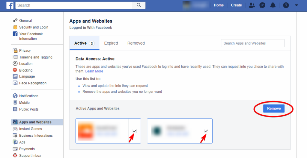 How to Connected Apps and Websites on Facebook