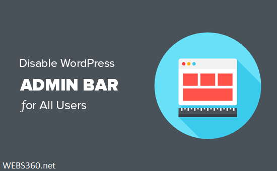 how to remove wordpress admin bar