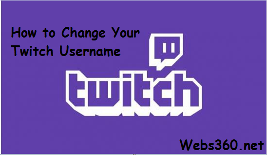 how to change your twitch usersname