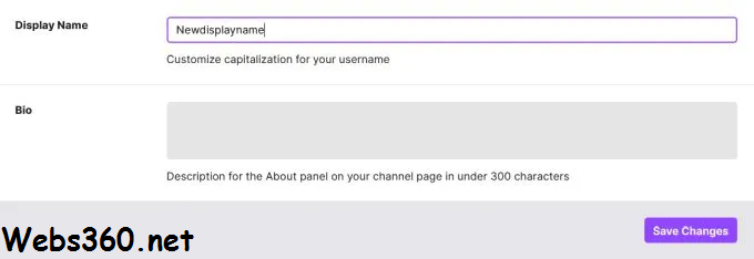 change your twitch username